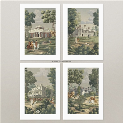 Historic Founding Fathers Homes prints for framing